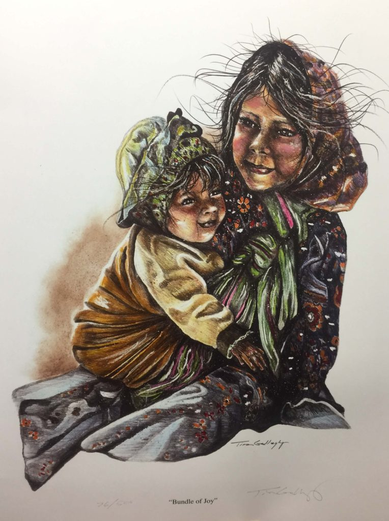 "Bundle of Joy<br>SIZE H"" X W"": 21 x 16<br>Orig. Price: $925.00"