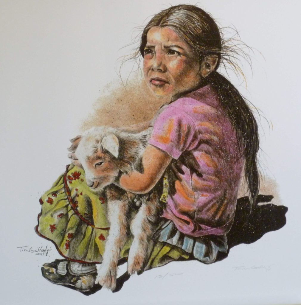 "The Lost Sheep<br>SIZE H"" X W"": 20 x 22<br>Orig. Price: $900.00"